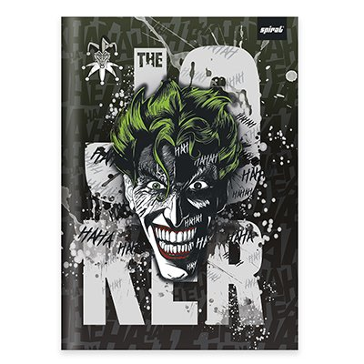 Caderno universitário capa dura brochura costurado 80 folhas Joker 212234 Spiral PT 1 UN