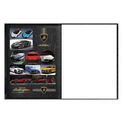 Caderno universitário capa dura brochura costurado 80 folhas Lamborghini 212235 Spiral PT 1 UN