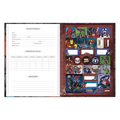 Caderno universitário capa dura brochura costurado 80 folhas Marvel Comics Homem Aranha 212240 Spiral PT 1 UN