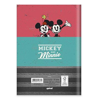 Caderno universitário capa dura brochura costurado 80 folhas Mickey Mouse 212218 Spiral PT 1 UN
