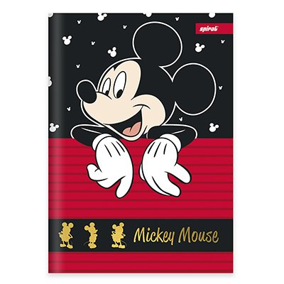 Caderno universitário capa dura brochura costurado 80 folhas Mickey Mouse 212220 Spiral PT 1 UN