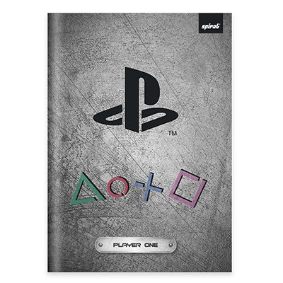 Caderno universitário capa dura brochura costurado 80 folhas Playstation 212250 Spiral PT 1 UN