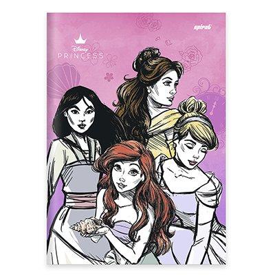 Caderno universitário capa dura brochura costurado 80 folhas Princesas 212223 Spiral PT 1 UN