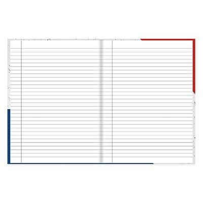 Caderno universitário capa dura brochura costurado 80 folhas PSG 212252 Spiral PT 1 UN