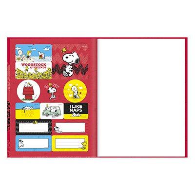 Caderno universitário capa dura brochura costurado 80 folhas Snoopy 212255 Spiral PT 1 UN