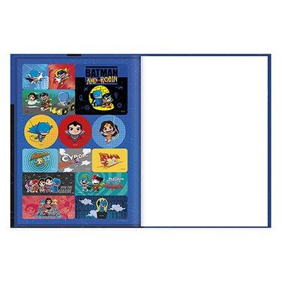 Caderno universitário capa dura brochura costurado 80 folhas DC Super Friends Batman e Robin 212215 Spiral PT 1 UN