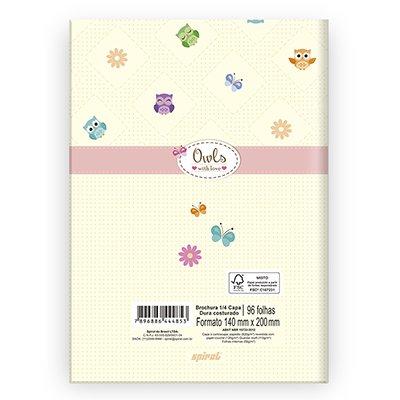 Caderno 1/4 capa dura costurado 96fls Coruji 212738 Spiral Cor PT 1 UN