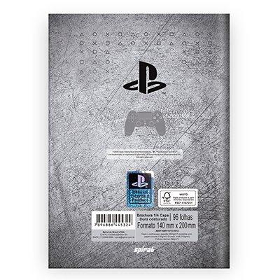 Caderno 1/4 capa dura costurado 96fls Playstat. 212779 Spiral Ps PT 1 UN