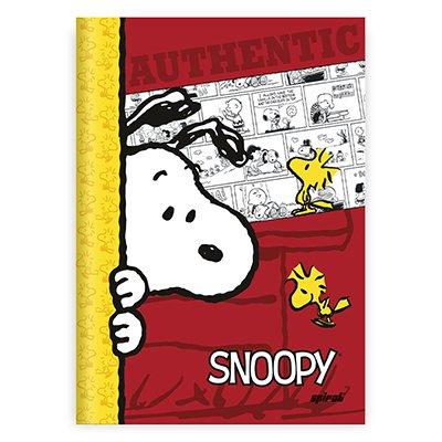 Caderno 1/4 capa dura costurado 96fls Snoopy 20993 Spiral Sno PT 1 UN