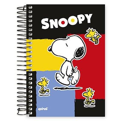Caderno 1/4 espiral capa dura 200fls Snoop 20556 Spiral Sno PT 1 UN
