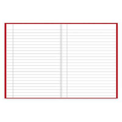Caderno 1/4 capa dura costurado 48fls vermelho 74472 Spiral PT 1 UN