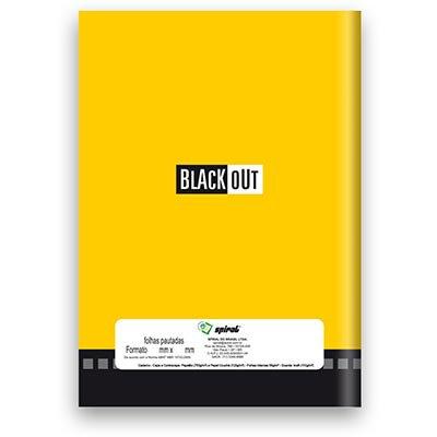 Caderno Universitário Capa Dura Costurado 96fl Blackout 01932 Spiral PT 1 UN