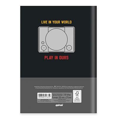 Caderno univ. capa dura costurado 96fl Playstat. 20734 Spiral Ps PT 1 UN