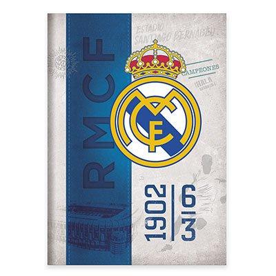Caderno Universitário capa dura costurado 96fl Real Madrid 20737 Spiral Rea PT 1 UN