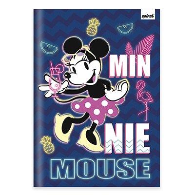 Caderno univ. capa dura costurado 96fl Minnie 20720 Spiral Mte PT 1 UN