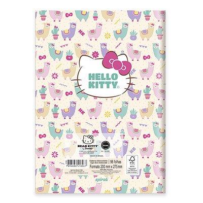 Caderno univ. capa dura costurado 96fl H. Kitty 20725 Spiral Hki PT 1 UN