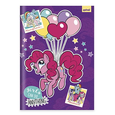Caderno Universitário capa dura costurado 96fl My Little Pony 20733 Spiral Ltp PT 1 UN