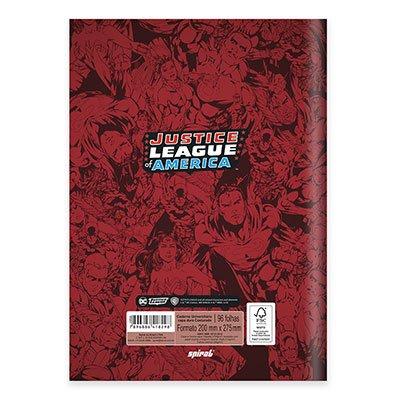 Caderno univ. capa dura costurado 96flL.Justiça 20728 Spiral Lig PT 1 UN