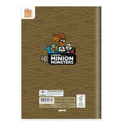Caderno univ. capa dura costurado 96fl Minion 20731 Spiral Mim PT 1 UN