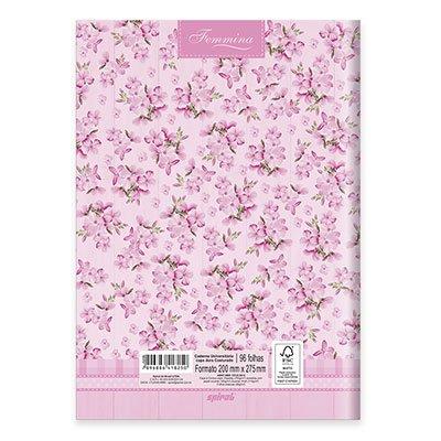 Caderno Universitário capa dura costurado 96fls Femmina 20724 Spiral Fem PT 1 UN