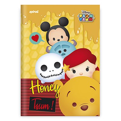 Caderno 1/4 capa dura costurado 48fls TsumTsum 20813 Spiral Tsum PT 1 UN