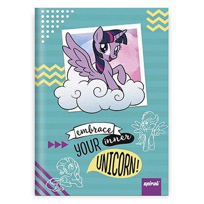 Caderno 1/4 capa dura costurado 96fls My L Pony 20866 Spiral Ltp PT 1 UN