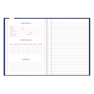 Caderno 1/4 capa dura costurado 96fls Minnie 20845 Spiral Mte PT 1 UN
