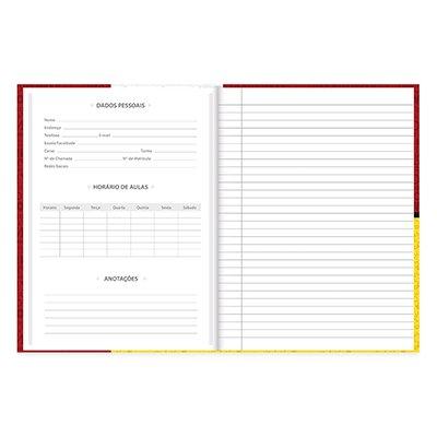 Caderno Universitário  capa dura costurado 96fl Snoopy 20712 Spiral Sno  PT 1 UN