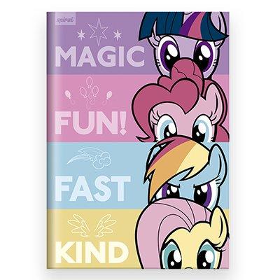 Caderno universitário capa dura brochura costurado 80 folhas My Little Pony 212247 Spiral PT 1 UN