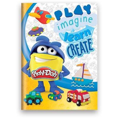 Caderno 1/4 capa dura costurado 48fls Play Doh 02656 Play Doh PT 1 UN