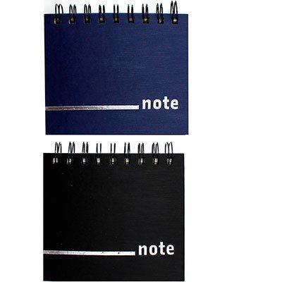Caderneta de apontamento s/pauta 12,5x11 70fl sortido Abyara PT 1 UN