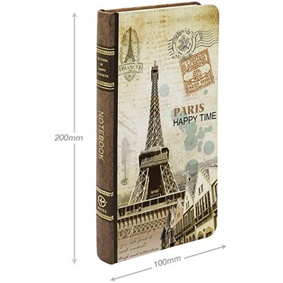Caderno anotações 9,2x17cm mesclado 80 fls Paris NY4009 Spiral PT 1 UN