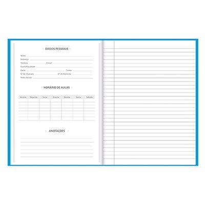 Caderno universitário capa dura costurado 96fls azul 64572 Spiral PT 1 UN
