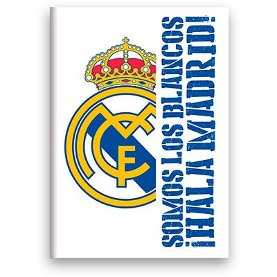 Caderno Universitário Capa Dura Costurado 96fl Real Madrid 02389 Spiral Rea  PT 1 UN
