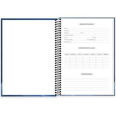 Caderno universitário capa dura de Artes sem pauta 89469 Spiral PT 1 UN