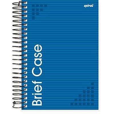 Caderno 1/4 espiral capa dura 96fls Brief Case azul 74830 Spiral Brf PT 1 UN