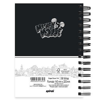 Caderno 1/4 espiral capa dura 96fls Mickey PB 20749 Spiral Mpb PT 1 UN