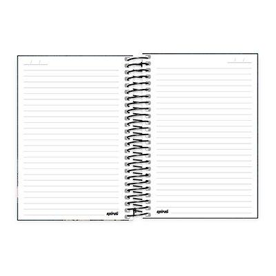 Caderno 1/4 espiral capa dura 200fls L. Tunes 20798 Spiral Lt PT 1 UN