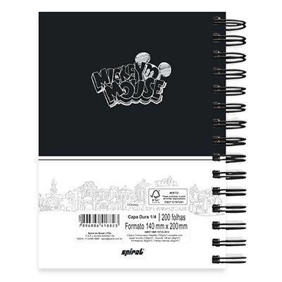 Caderno 1/4 espiral capa dura 200fls Mickey 20783 Spiral Mpb PT 1 UN