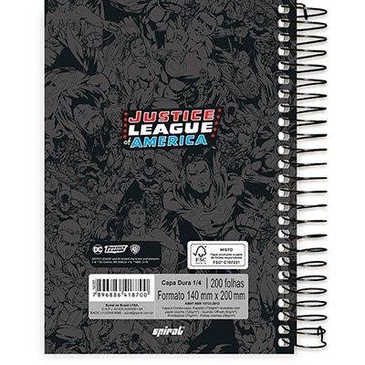 Caderno 1/4 espiral capa dura 200fls L. Justiça 20797 Spiral Lig PT 1 UN