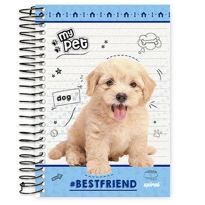 Caderno 1/4 espiral capa dura 96fls My Pet 20772 Spiral Pet PT 1 UN
