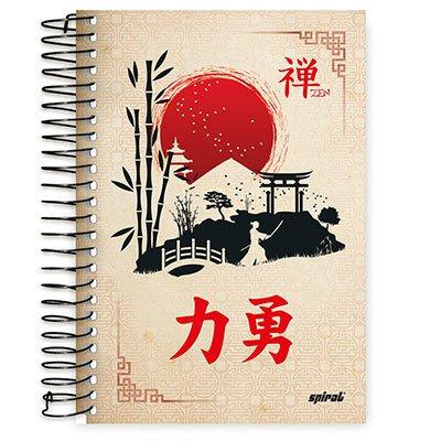 Caderno 1/4 espiral capa dura 96fls Zen 20781 Spiral Zen PT 1 UN