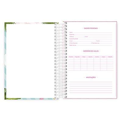 Caderno 1/4 espiral capa dura 200fls Flamingo 20789 Spiral Ten PT 1 UN