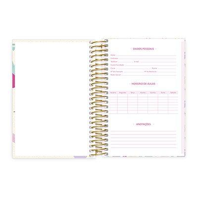 Caderno 1/4 espiral capa dura 96fls Hello Kitty 20764 Spiral Hki PT 1 UN