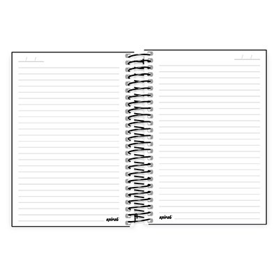 Caderno 1/4 espiral capa dura 200fls X Box 20805 Spiral Xbox PT 1 UN