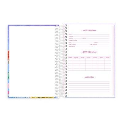 Caderno 1/4 espiral capa dura 200fls Princesas 20793 Spiral Pn PT 1 UN