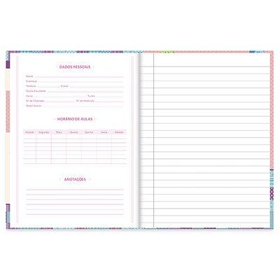 Caderno 1/4 capa dura costurado 96fls Corujinha 20850 Spiral Cor PT 1 UN