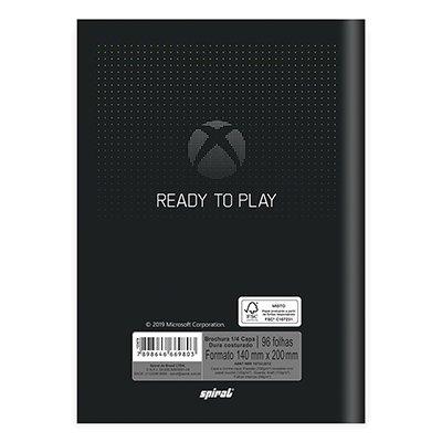 Caderno 1/4 capa dura costurado 96fls X Box 20862 Spiral Xbox PT 1 UN