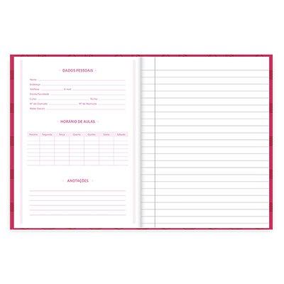 Caderno 1/4 capa dura costurado 96fls Turma da Mônica 21723 Spiral Tdm PT 1 UN