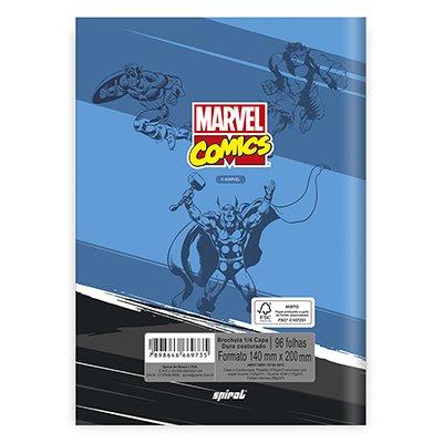 Caderno 1/4 capa dura costurado 96fls Marvel 20855 Spiral Mv PT 1 UN